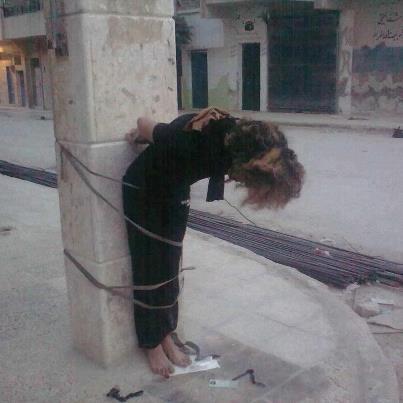 فتاة سورية عذّبها الجيش وربطها