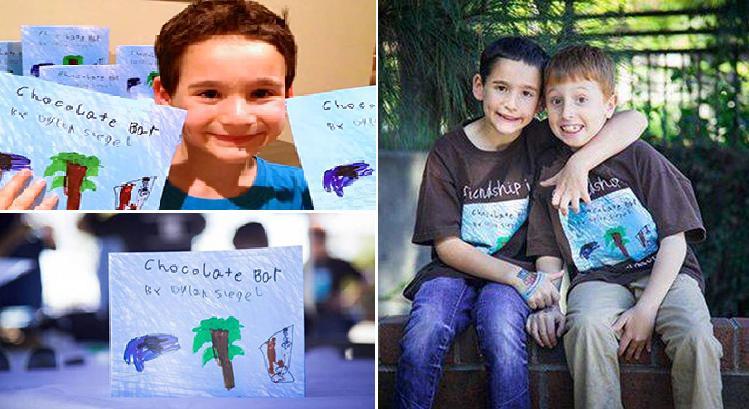 طفل جمع مليون دولار لصديقه المريض