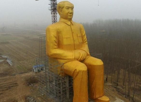 تدمير تمثال ذهبي في الصين كلّف نصف مليون دولار