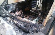 إحراق سيارة النقل المباشر في قناة الجديد