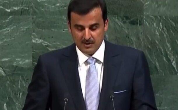 أمير قطر في الأمم المتحدة يخرج عن صمته ولقاء قصير مع ترامب