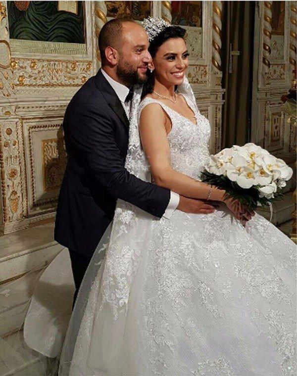 بريجيت ياغي في يوم زفافها