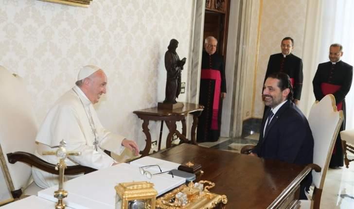 لقاء بين الحريري والبابا فرنسيس بأجواء اكثر من مريحة