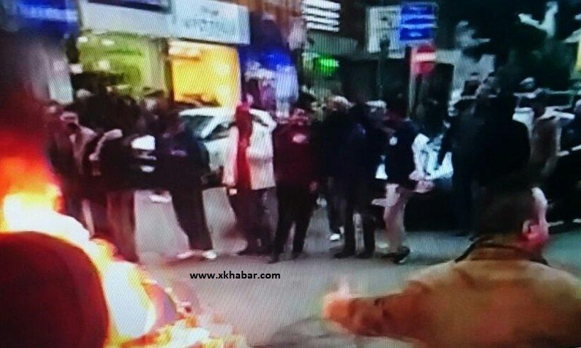 صور حصرية: حرق اطارات واغلاق طرقات في بيروت احتجاجا على كلام باسيل