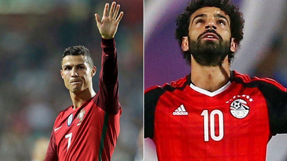 رونالدو يغلب محمد صلاح ويحقق فوز البرتغال على مصر