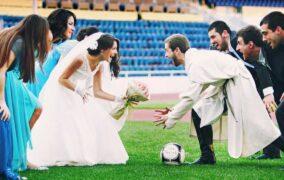 أول حفل زفاف ايطالي في الملاعب الرياضية