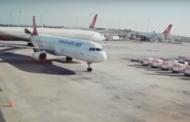 تصادم طائرتين ونجاة الركاب في مطار اسطنبول
