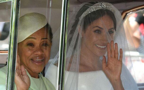 صور والدة العروس ميغان تنهار بالبكاء في العرس الملكي