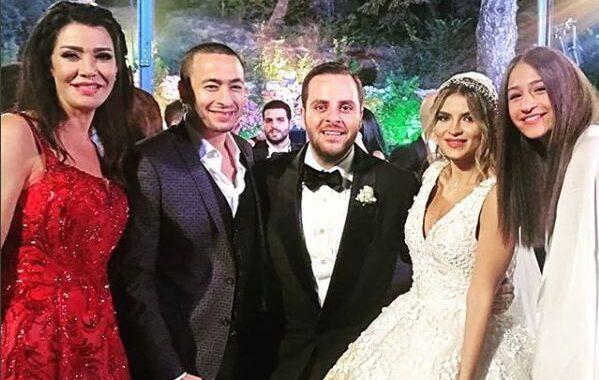 صور جديدة لأجمل إطلالات المشاهير في زفاف صادق الصباح