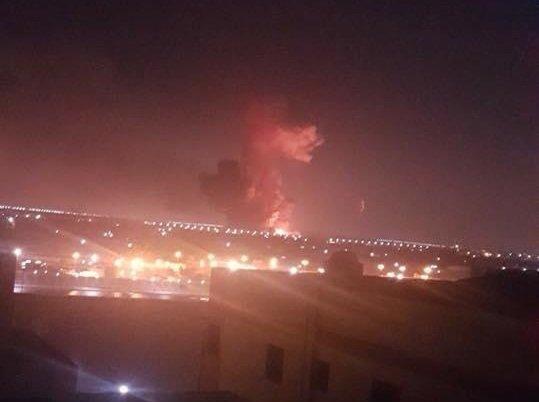 انفجار خزاني وقود على سور مطار القاهرة الدولي