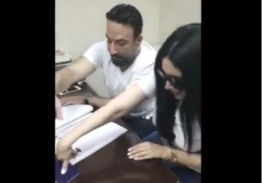 اول صورة للممثلة عبير صبري مع زوجها ايمن البياع