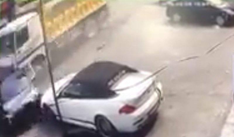سائق شاحنة مجنون يجتاح 8 سيارات ويخلّف 14 جريحا في بشامون