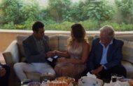 صور عقد قران منة حسين فهمي على طارق سعد