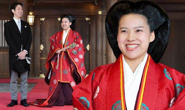 زواج الاميرة اليابانية اياكو من مواطن بعد تخليها عن اللقب