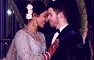 صور فستان زفاف بريانكا شوبرا وأطول وشاح مرصع بمليوني قطعة