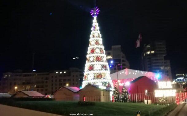 افتتاح أغلى قرية ميلادية في وسط بيروت